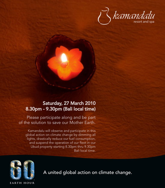 Earth Hour 2010 at Kamandalu