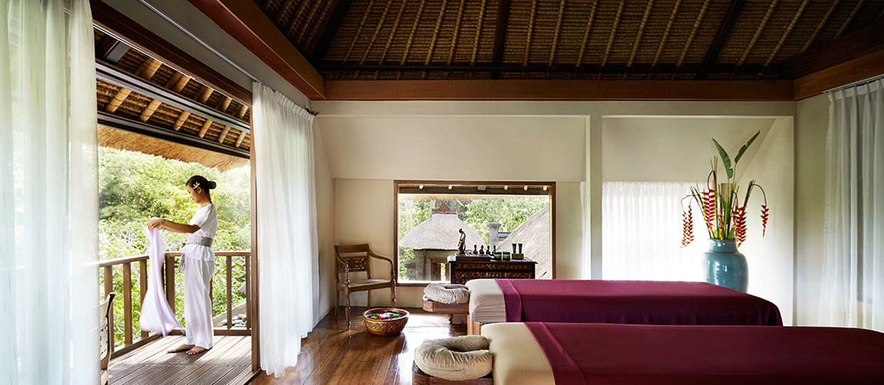 Chaya Spa at Kamandalu Ubud Resort, Bali: As a wellness facility dedicated to body, mind and spirit rejuvenation, Chaya Spa presents a nurturing menu of traditional Indonesian healing arts.