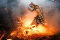 Perang Api (Fire War) at Banjar Nagi, Ubud, Bali