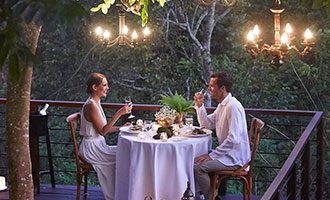 Forest Dining for private romantic dinner