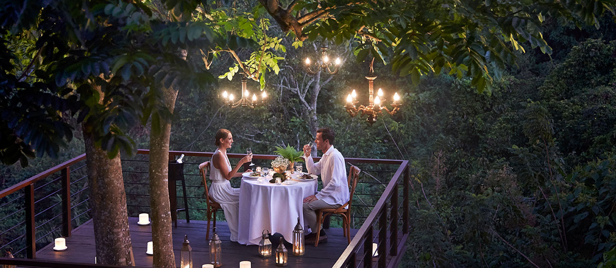 Forest Dining at Tree Deck, Kamandalu Ubud, Bali