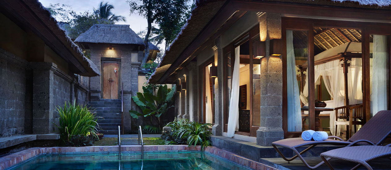 Pool villa at kamandalu ubud bali a five star luxury for Garden pool villa ubud