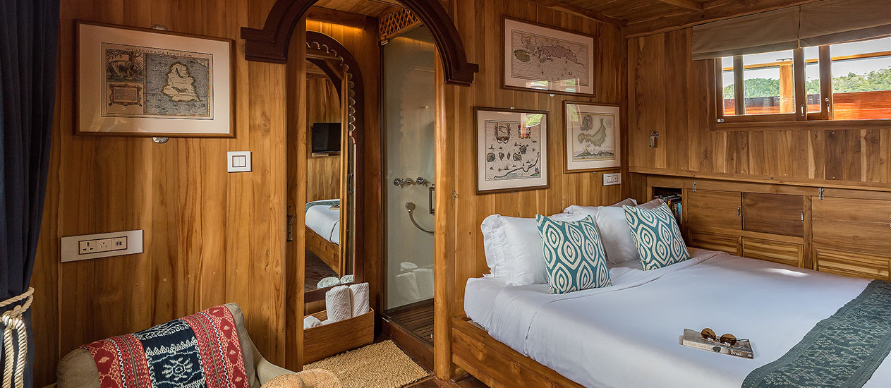 Guest Suite at Sequoia Yacht Coral Triangle Safaris - Private yacht cruise to Komodo, Raja Ampat, Solor Alor, Wakatobi arrange by Kamandalu Ubud, Bali