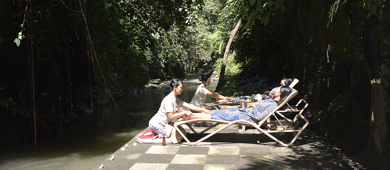 Spa by the river at Chaya Spa - Kamandalu Ubud, Bali