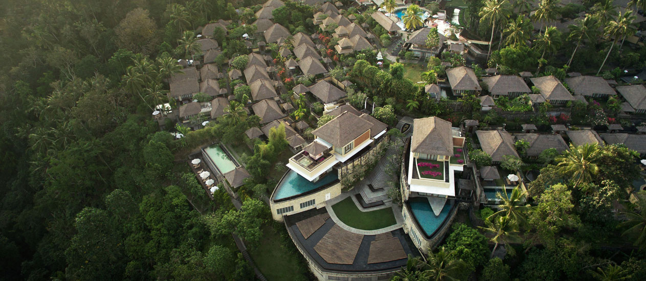 Three bedroom pool villa at kamandalu ubud a five star for Garden pool villa ubud