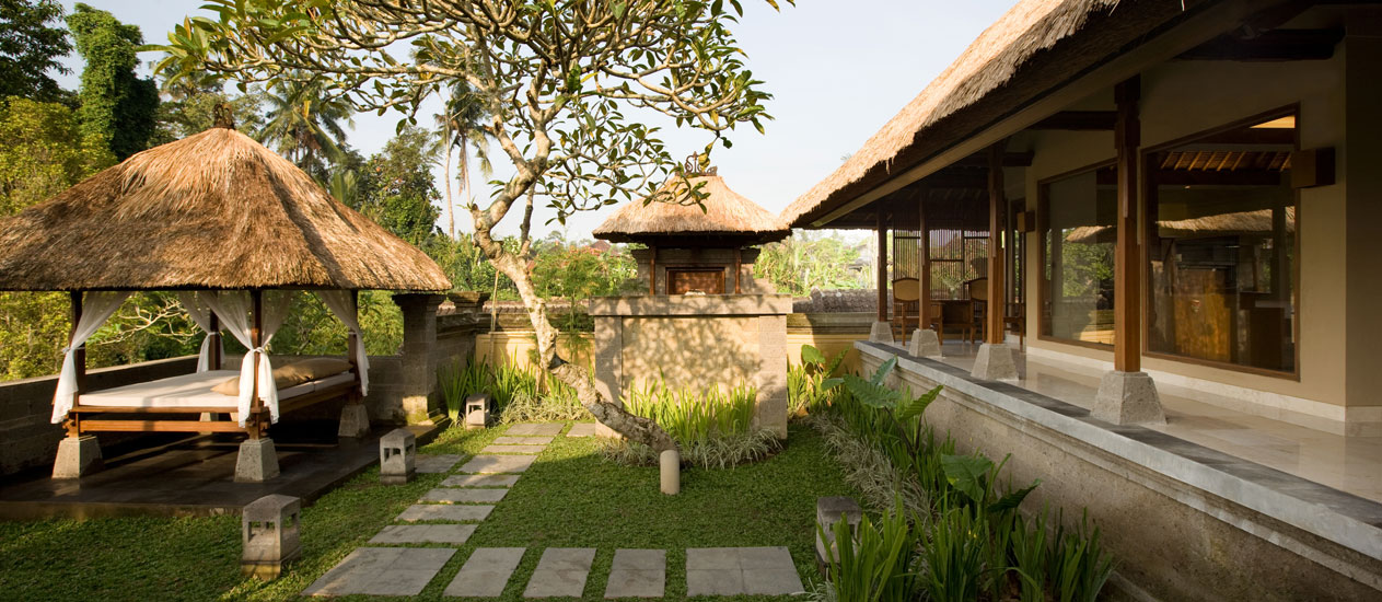 Villa 121 Landscape Exterior, Two Bedroom Pool Villa, Kamandalu Ubud, Bali - luxury resort and spa