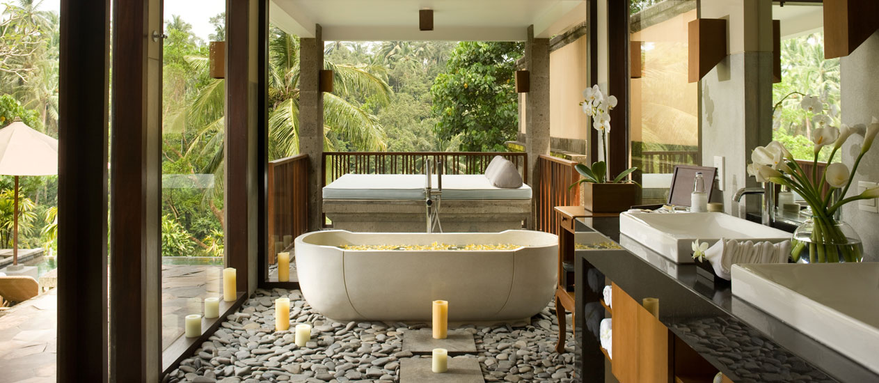 En-suite Bathroom, Private Deluxe Pool Villa - Kamandalu Ubud, Bali
