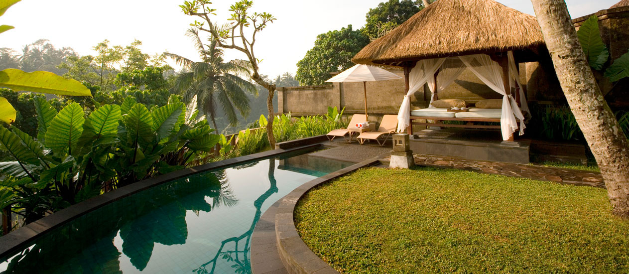 Villa 409 Exterior, Deluxe Pool Villa, Kamandalu Ubud, Bali - luxury resort and spa