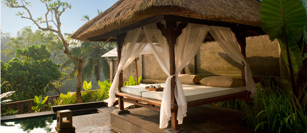 Villa 409 Day Bed, Deluxe Pool Villa, Kamandalu Ubud, Bali - resort villas