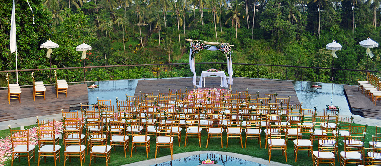 Elegant Wedding Decoration at Alun Alun of Kamandalu Ubud, Bali
