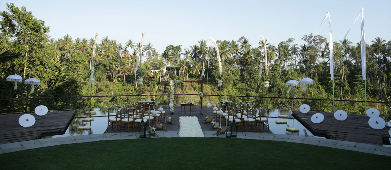 Wedding Decoration at Alun Alun of Kamandalu Ubud, Bali