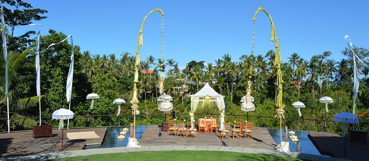Balinese Wedding Decoration at Alun Alun of Kamandalu Ubud, Bali