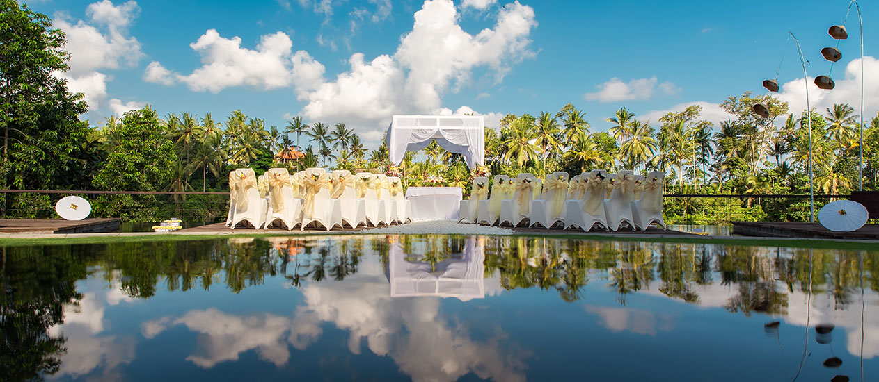 Simple Wedding Decoration at Alun Alun of Kamandalu Ubud, Bali