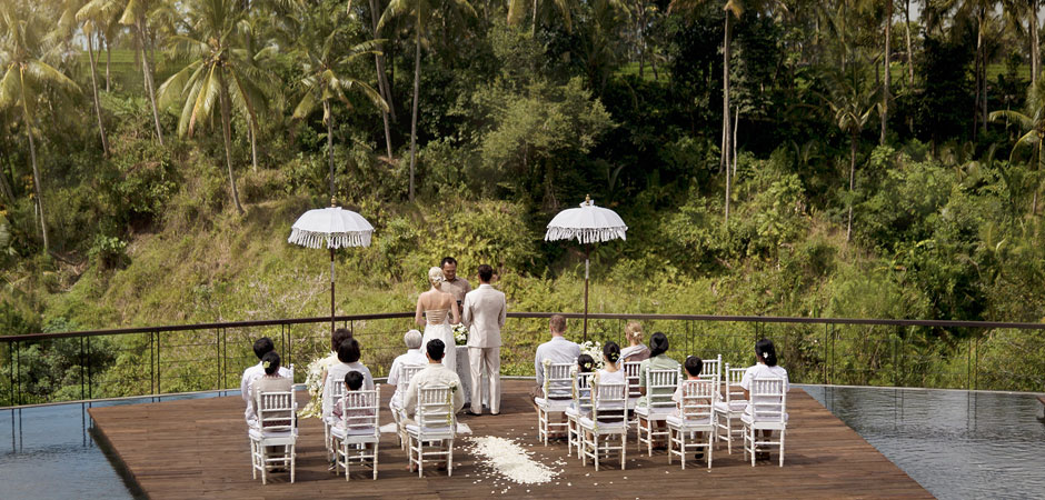 Wedding venue at Kamandalu Ubud - Resort and Spa in Bali