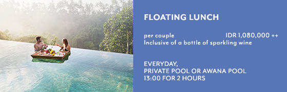 Floating Lunch at Private Pool or Kamandalu Ubud, Bali