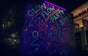 Glow to Flow Party at Kamandalu Ubud, Bali