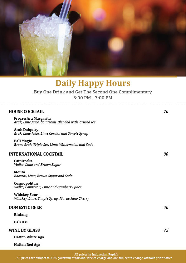 Happy Hours - Swim-up Bar