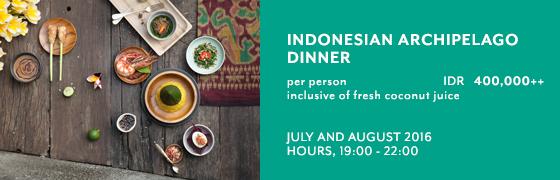 Indonesian Archipelago Dinner at Petulu Restaurant - Kamandalu Ubud, Bali