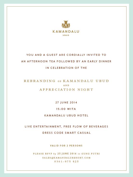 Kamandalu Invitation