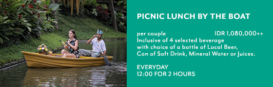 Picnic Lunch by the boat - Kamandalu Ubud, Bali