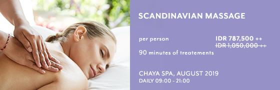 Scandinavian Massage at Chaya Spa