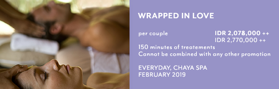 Warpped in love package at Chaya Spa